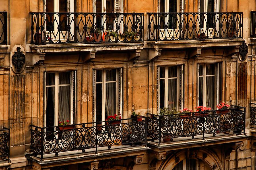 Paris Photograph - Left Bank Balconies by Mick Burkey