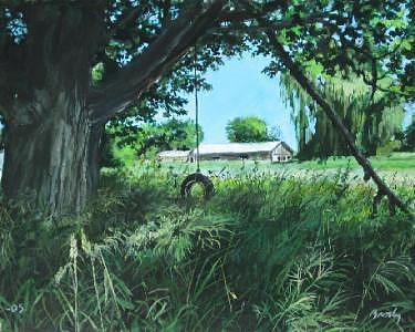 Landscape Painting - Left Behind by William  Brody