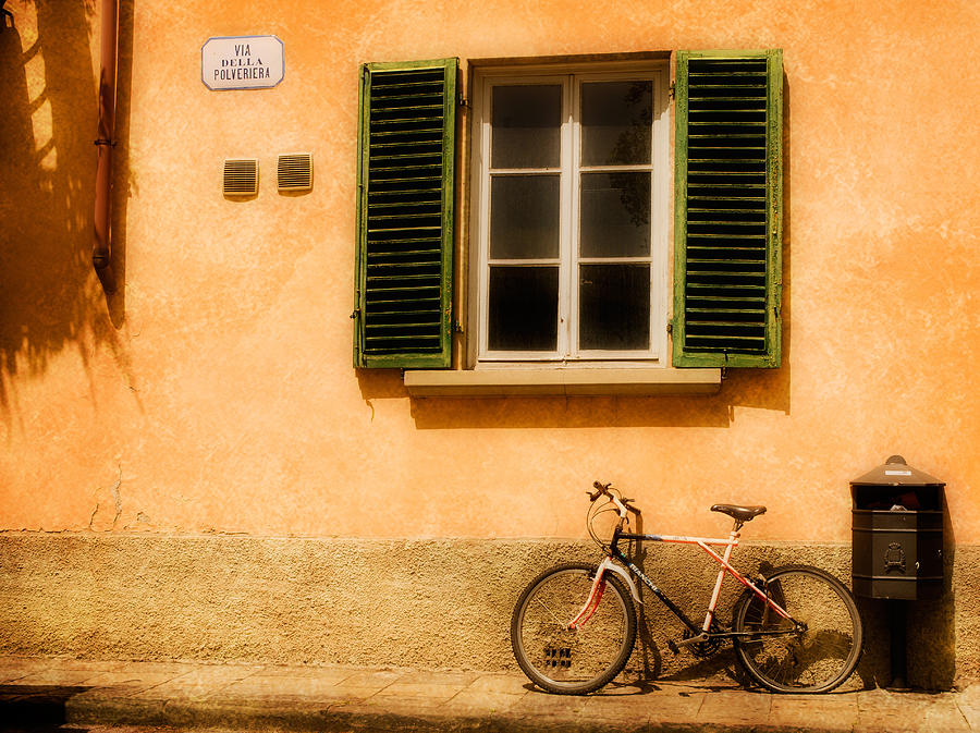 Lucca Photograph - Left Flat In Lucca by Mick Burkey