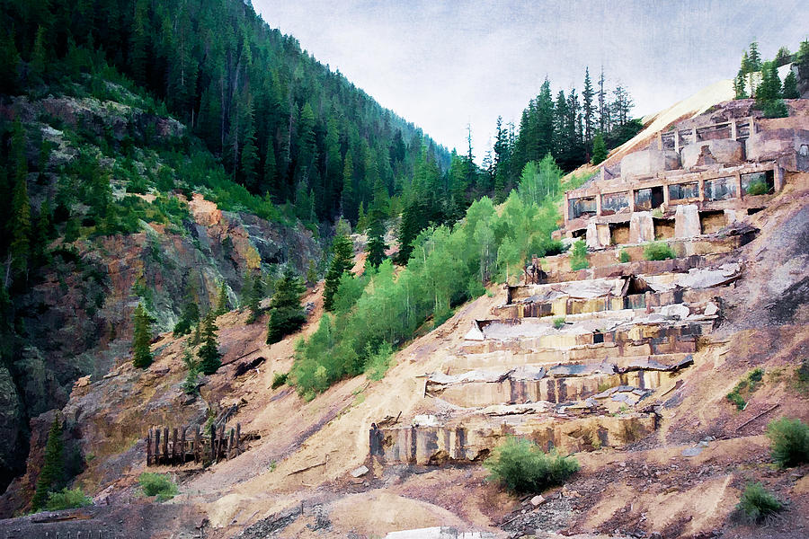 Colorado Photograph - Leftovers From Sunnyside Mill by Lana Trussell