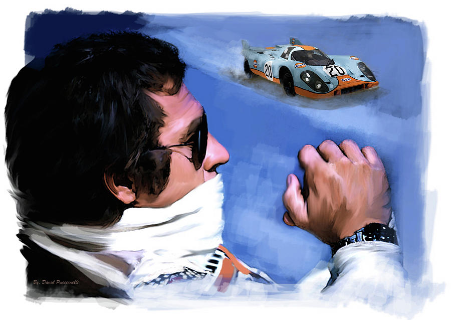 Legacy Le Mans Steve McQueen by Iconic Images Art Gallery David Pucciarelli