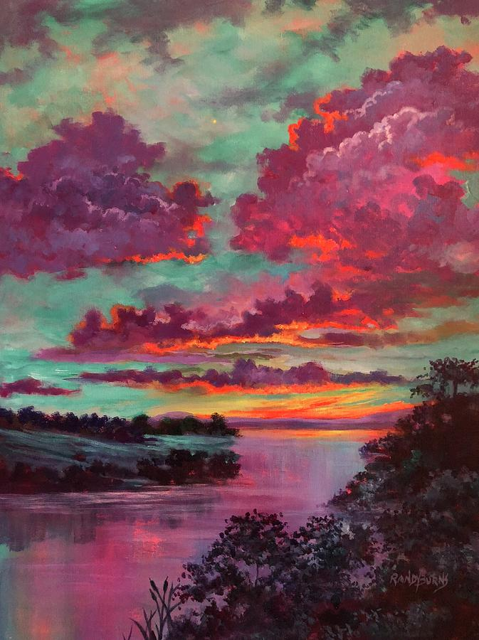 Legend Painting - Legend Of A Sunset by Randy Burns
