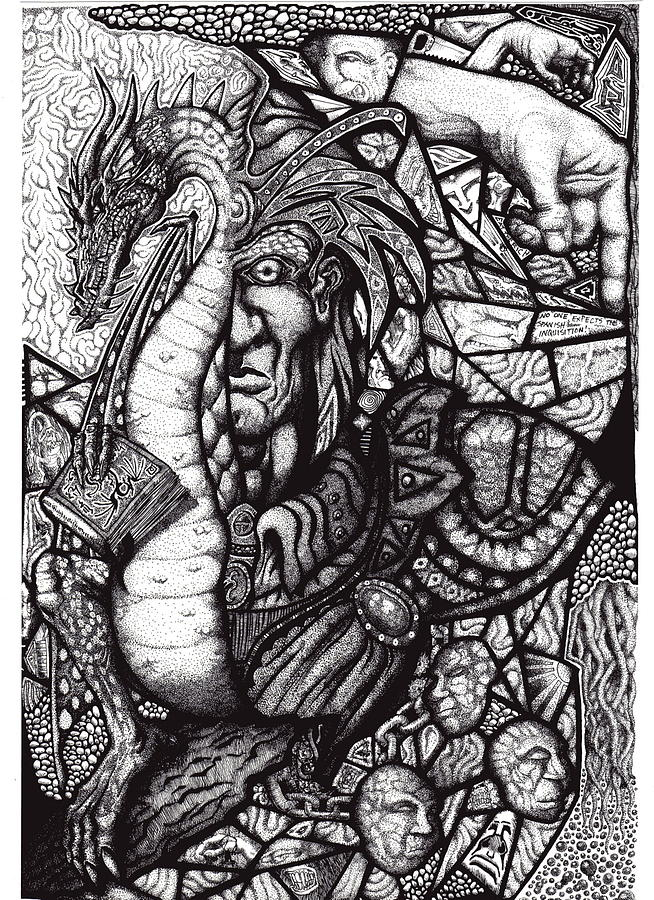 Pen And Ink Drawing - Legend by Tobey Anderson
