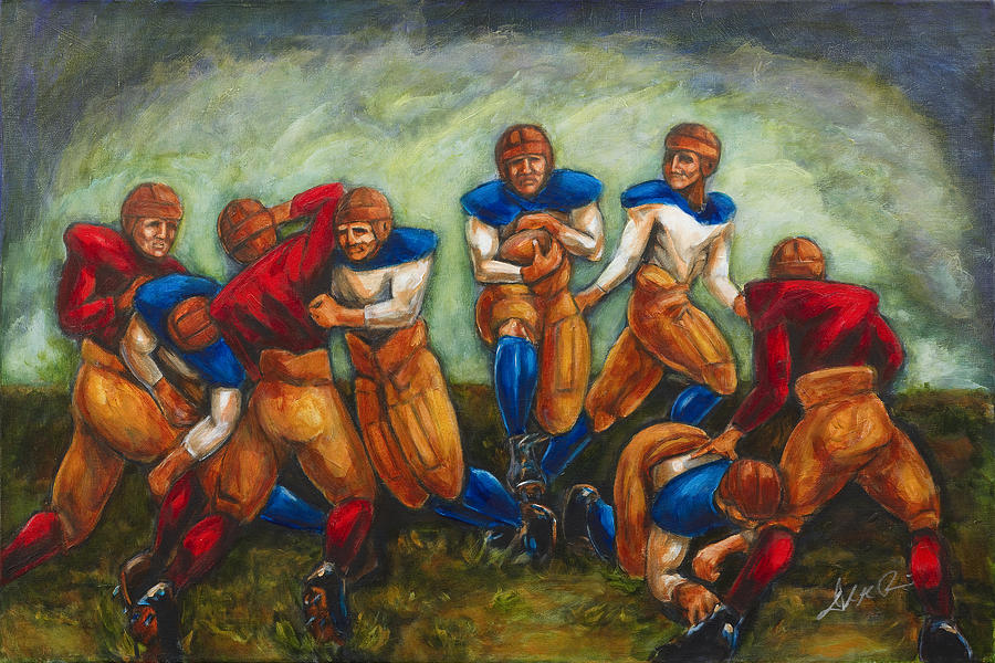 Leatherheads Painting - Legends by Daryl Price