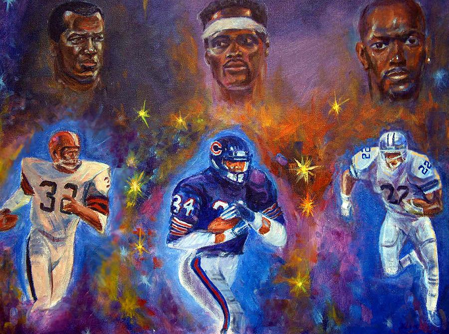 Sports Painting - Legends by Tommy  Winn