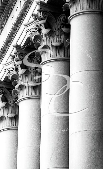 LEGISLATIVE BUILDING COLUMNS 1950 by Merle Junk