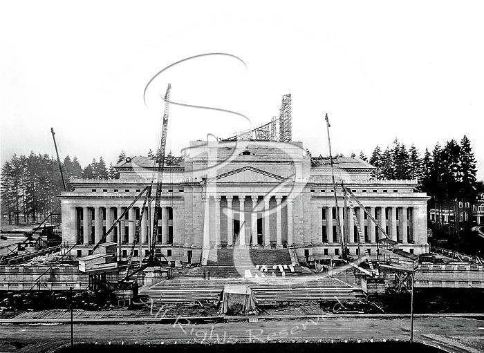 LEGISLATIVE BUILDING CONSTRUCTION MARCH 1925 by Joe McKnight