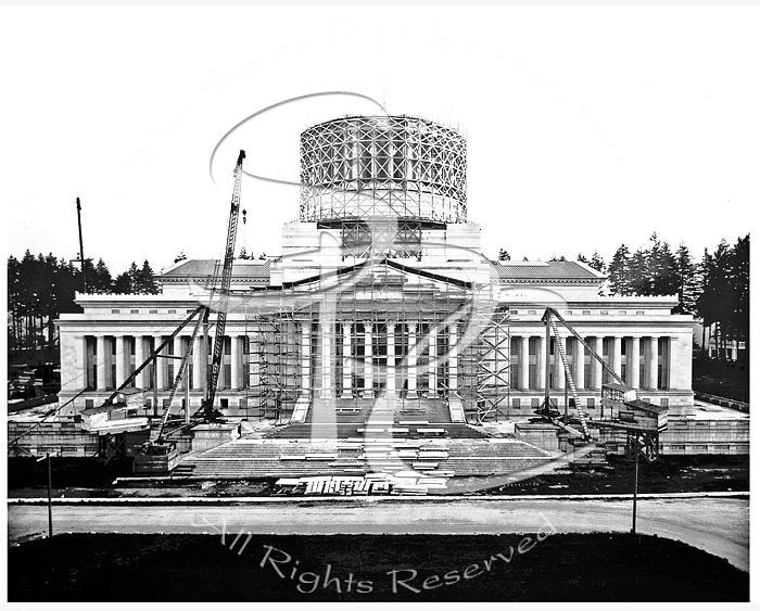 Legislative Building Construction 1925 by Joe McKnight