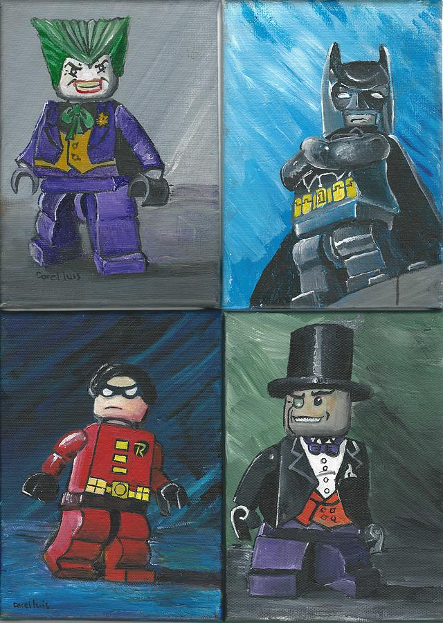 Lego Batman And Friends Painting By Christopher Williams