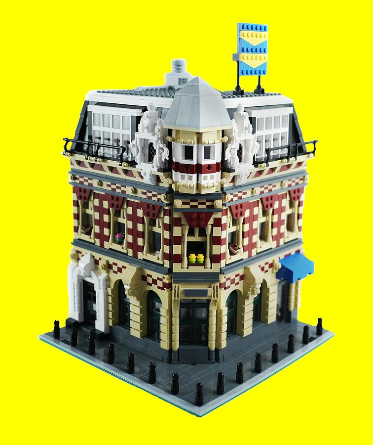 Lego Photograph - Lego Corner Shop And Apartments by Brian Lyles