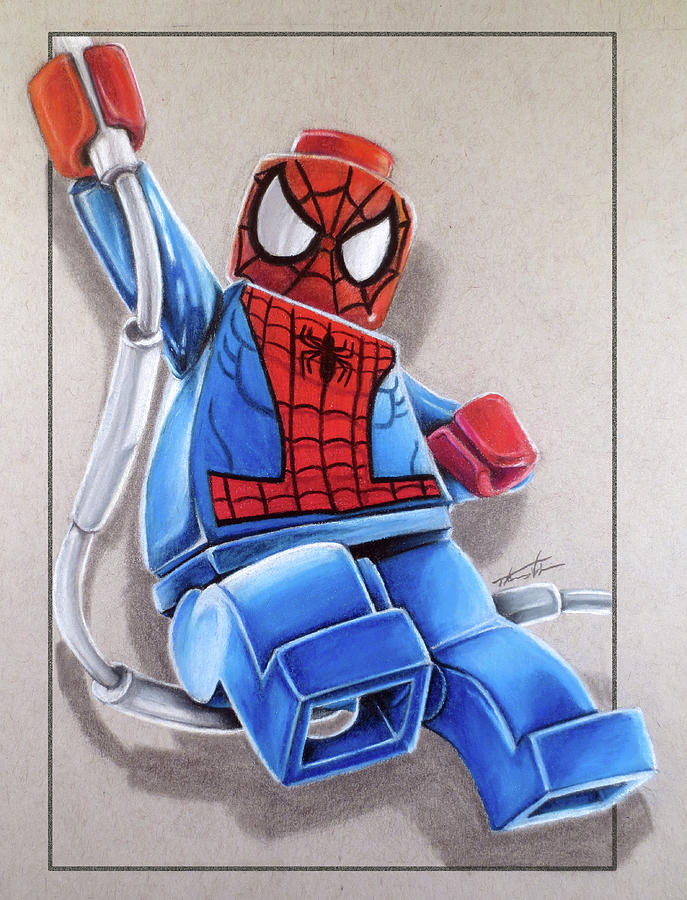 Lego Spiderman Drawing By Thomas Volpe