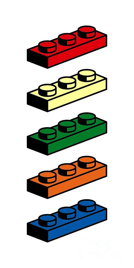 Lego Photograph - Lego T-shirt Pop Art by Edward Fielding