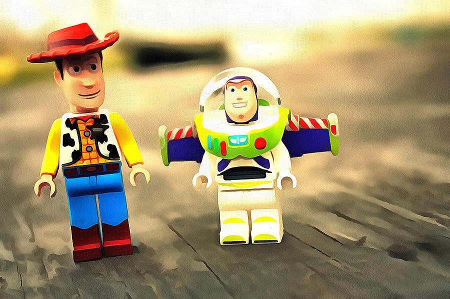 Lego Toy Story Digital Art By Seizyl Oetari