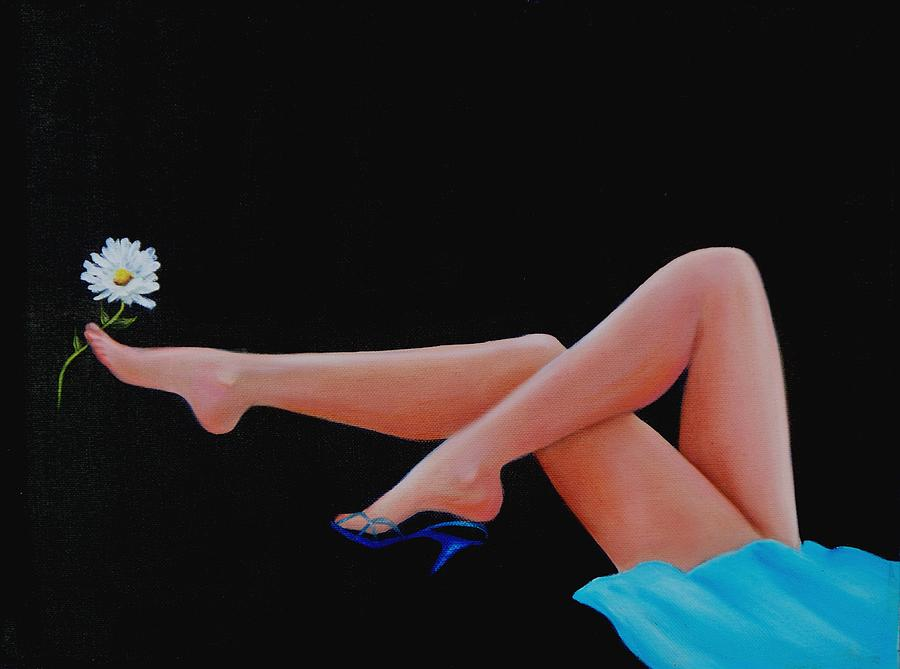 Oil Painting Painting - Legs by Joni McPherson