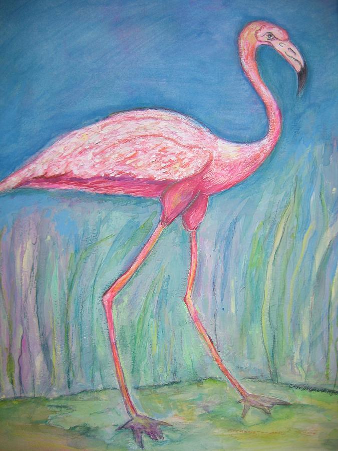 Bird Painting - Legs by Marlene Robbins