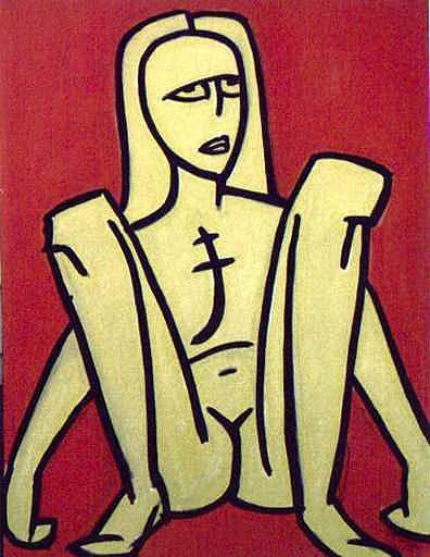 Nude Painting - Legs by Thomas Valentine