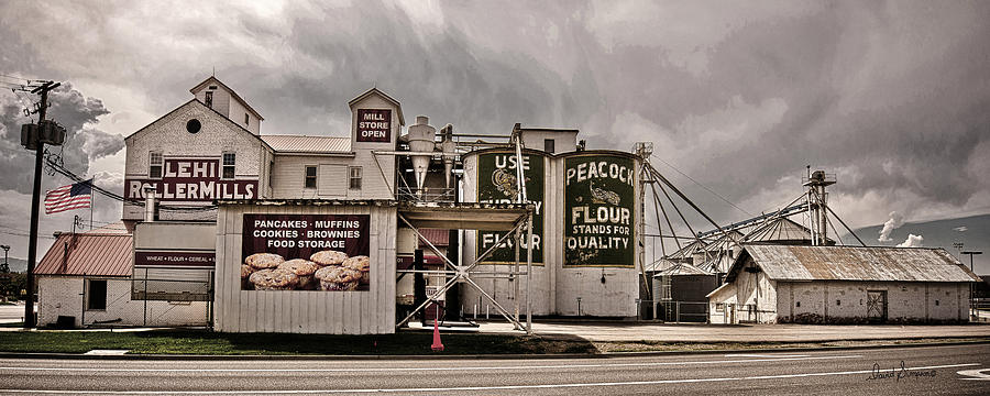 Lehi Roller Mills Vintage Photograph