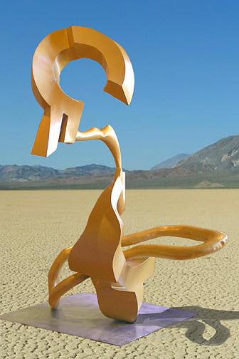 Abstract Sculpture - Lehras Cowlick by Alex Barrett