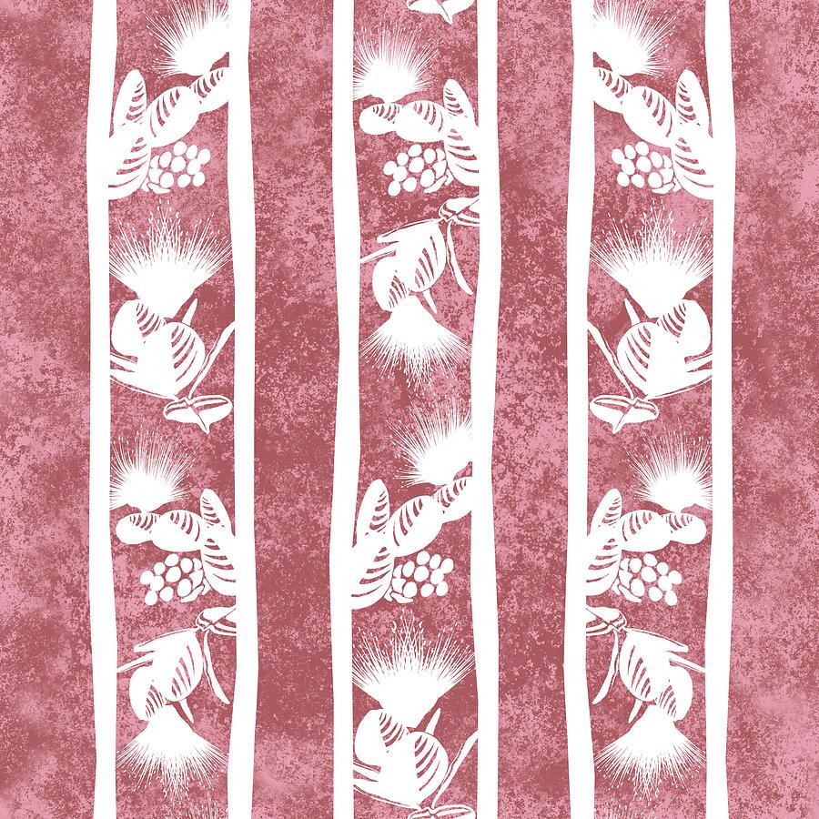 Lehua Stripes  Dusty Cedar by Karen Dyson