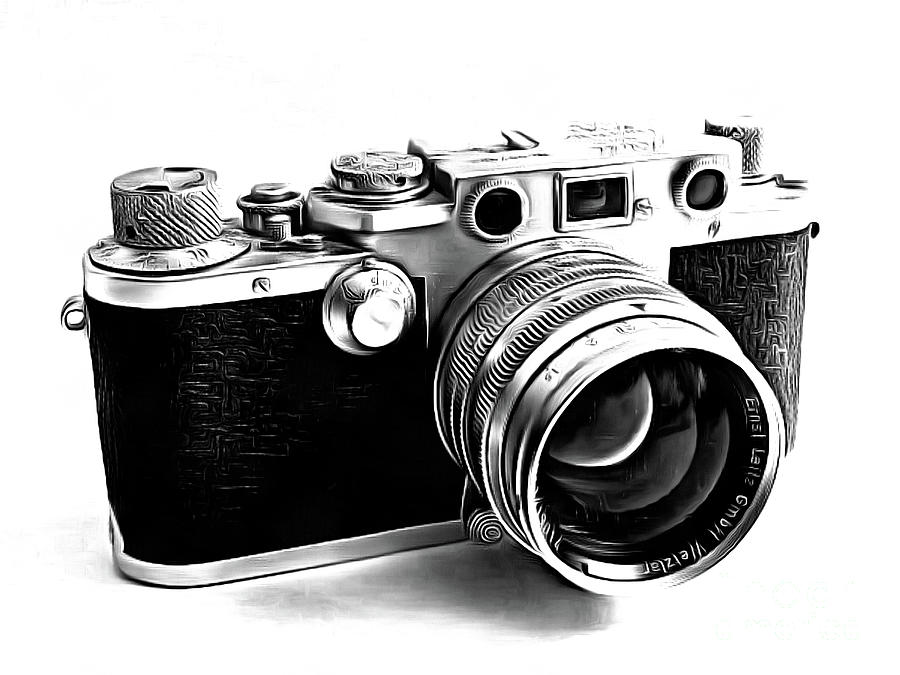 Leica iii camera drawing drawing by edward fielding for Camere dwg