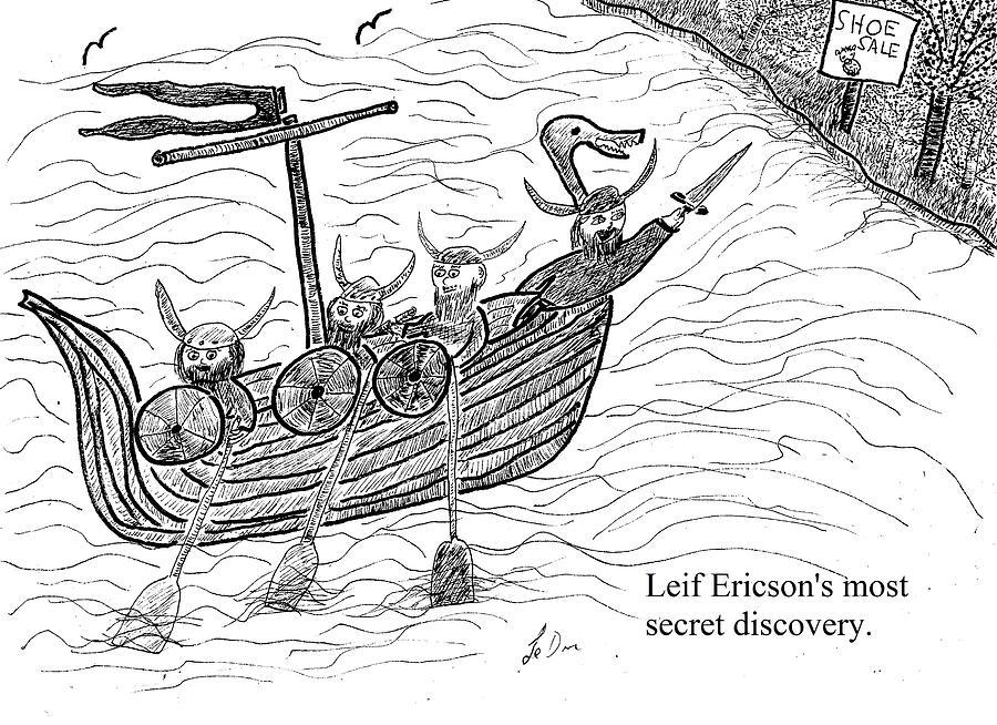 viking drawing leif ericson by aaron leduc