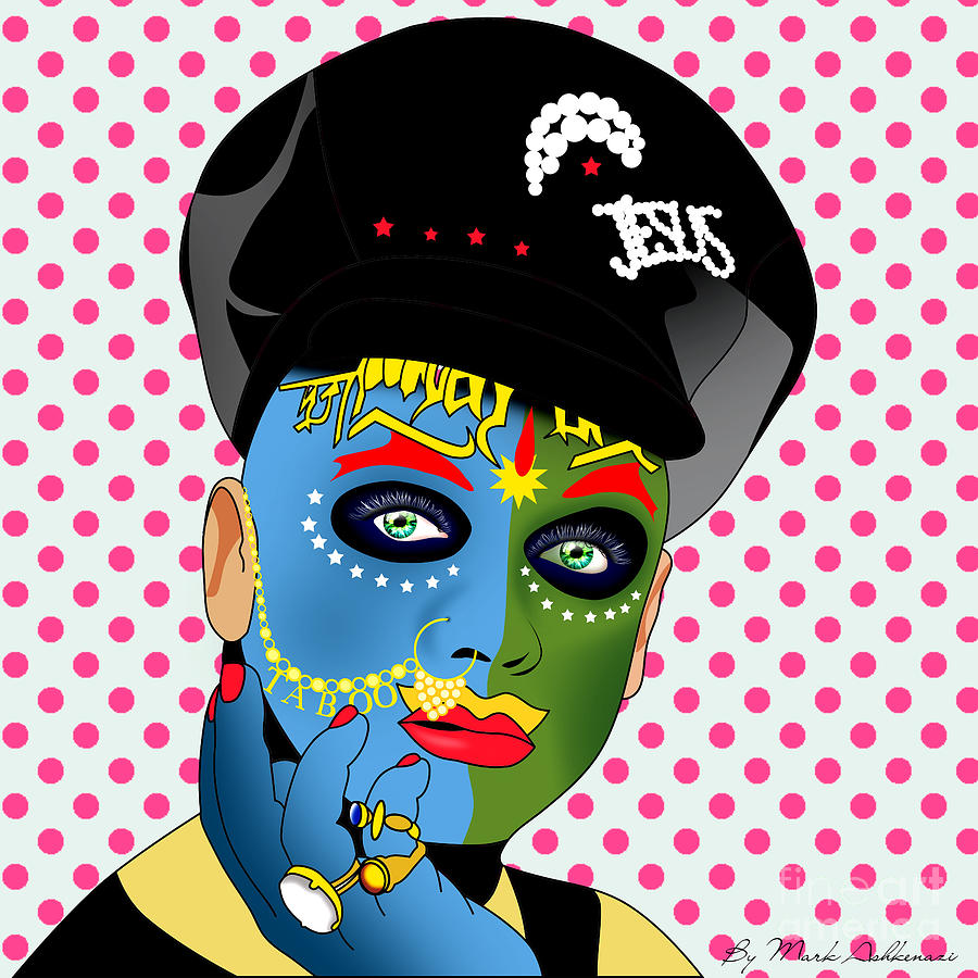 Leigh Bowery Painting - Leigh Bowery 2 by Mark Ashkenazi
