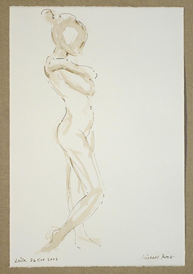 Nude Drawing - Leila 26 Oct No. 1. by Michael  Price