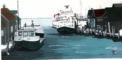Leland Bay Painting by David Ellis