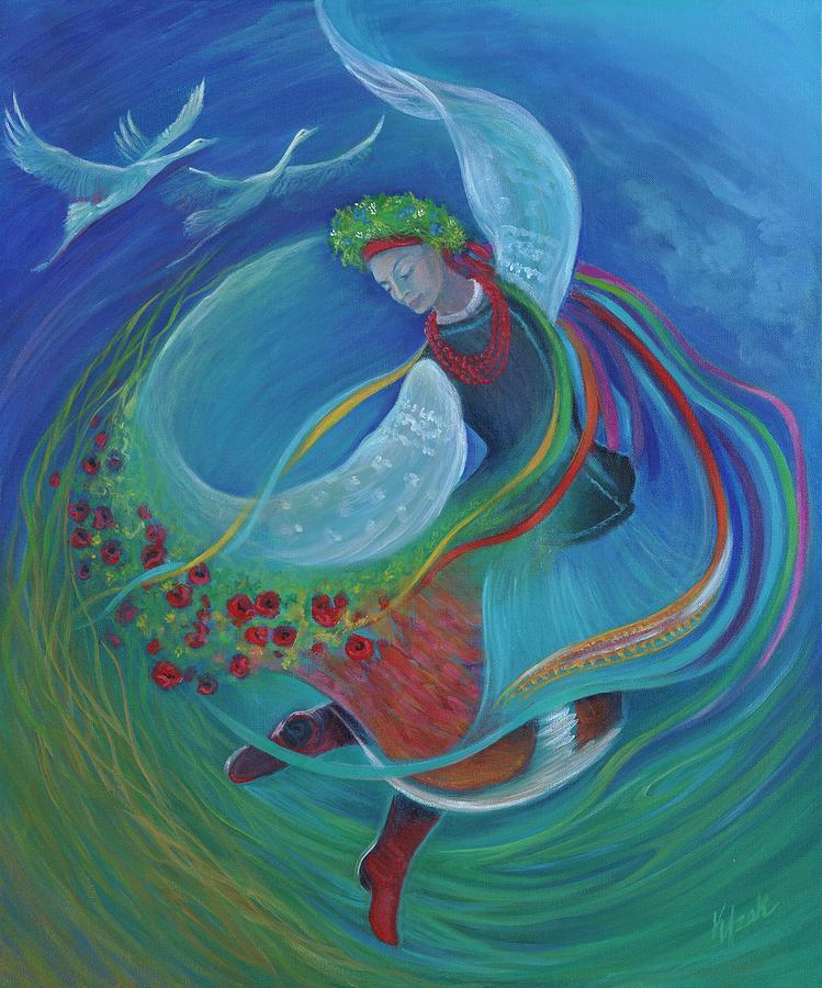 Ukrainian Painting - Leleka by Kristine Izak