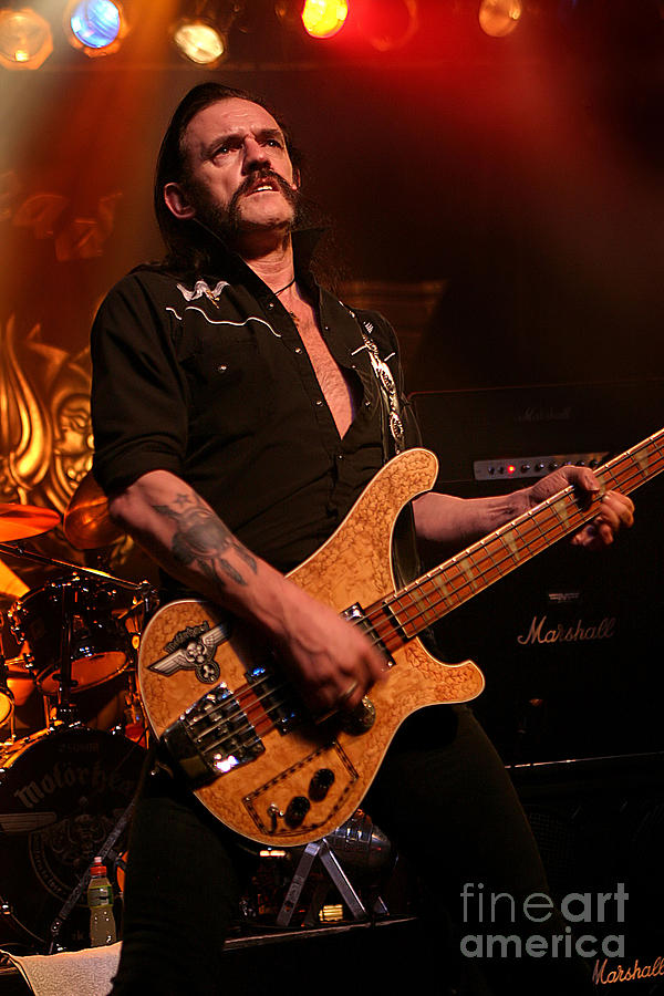 Lemmy Kilmister - Motorhead 2005 Uk Live Concert Tour S22 by Vintage Rock  Photos