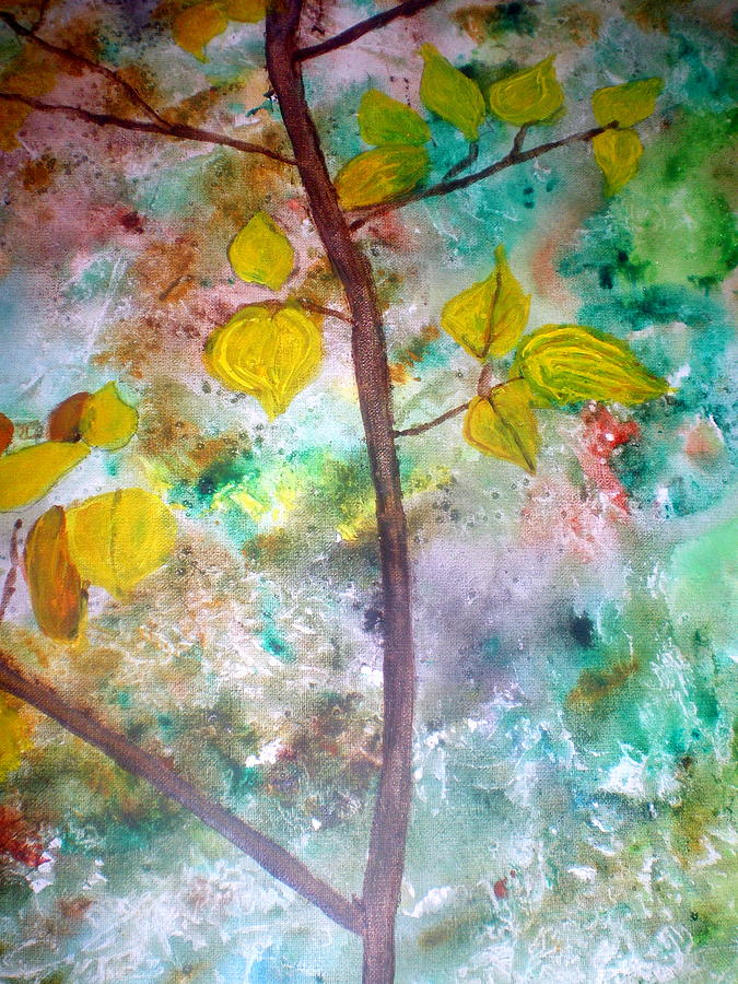 Tree Painting - Lemon Branch. by Patricia Fragola