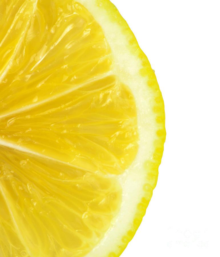 Background Photograph - Lemon Close Up by Deyan Georgiev