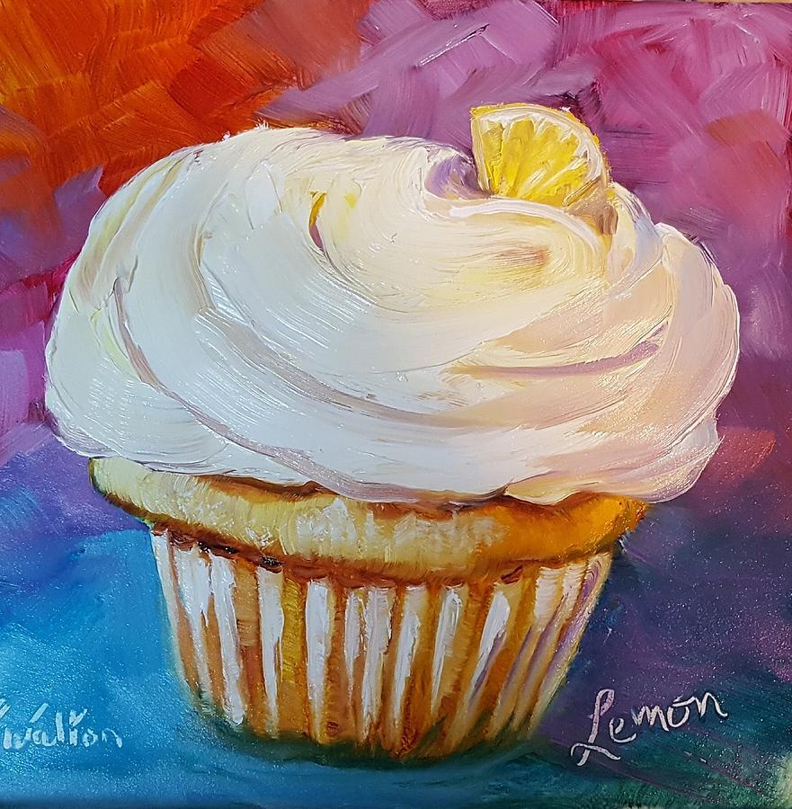 Lemon cupcake by Judy Fischer Walton