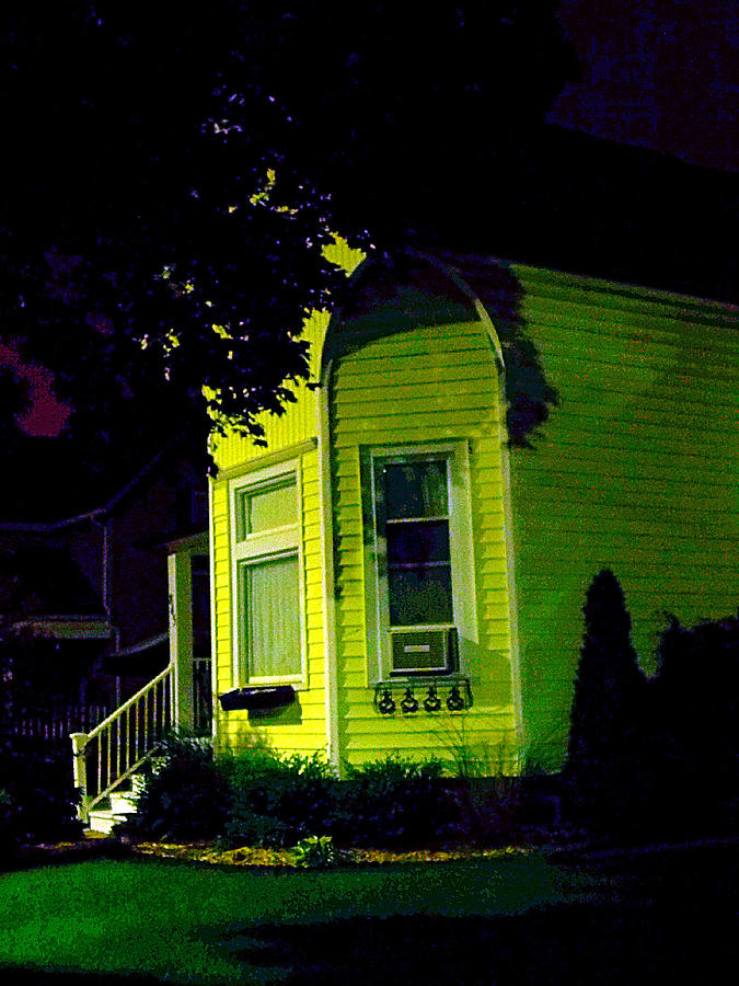 Yellow House Photograph - Lemon-drop House by Guy Ricketts