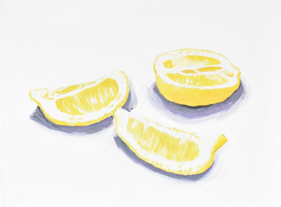 Lemon Painting by Emily Warren