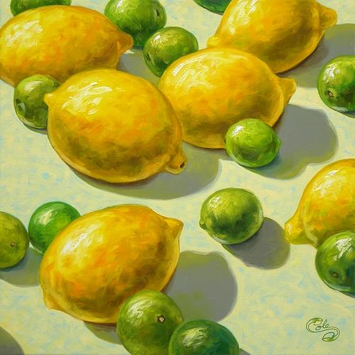 Food Painting - Lemon Lime by Beaman Cole