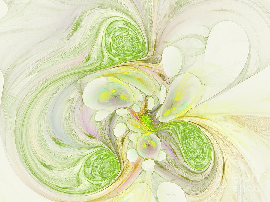 Digital Digital Art - Lemon Lime Curly by Deborah Benoit