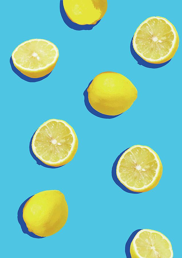 Lemon Digital Art - Lemon Pattern by Rafael Farias