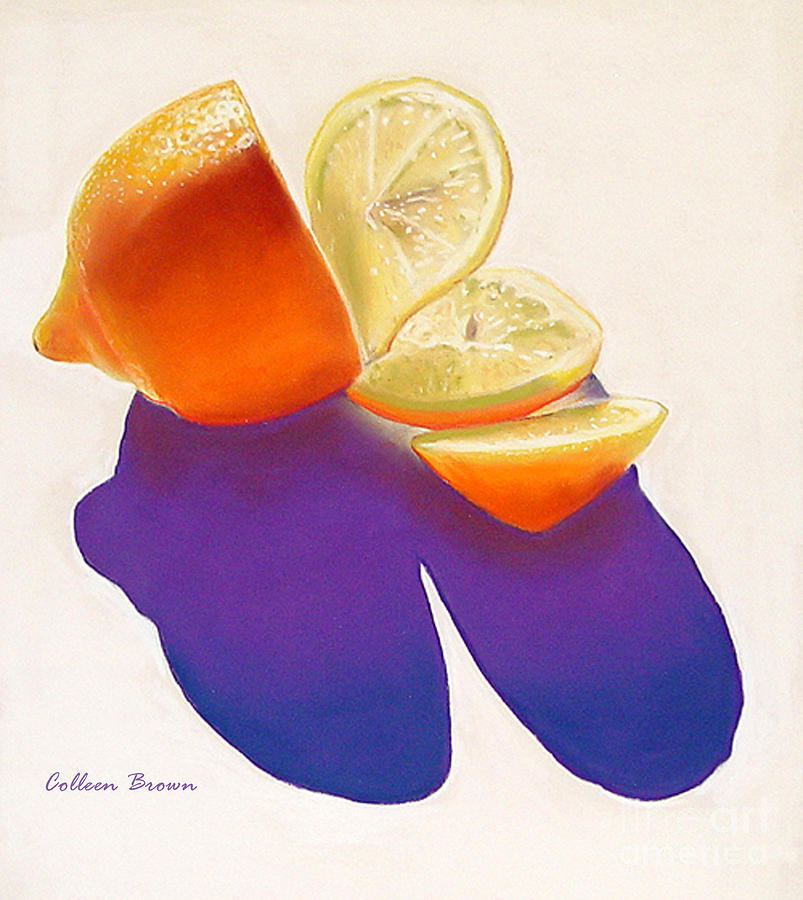 Still Life Painting - Lemon Slice by Colleen Brown