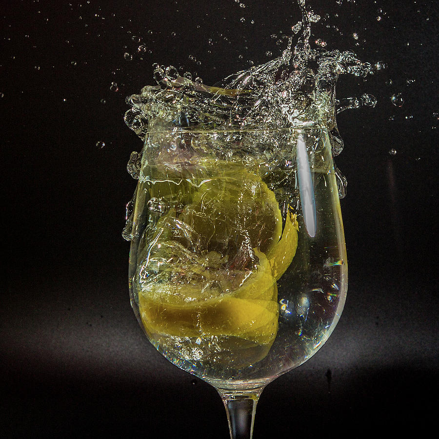 Lemon Photograph - Lemon Spash by Ed James
