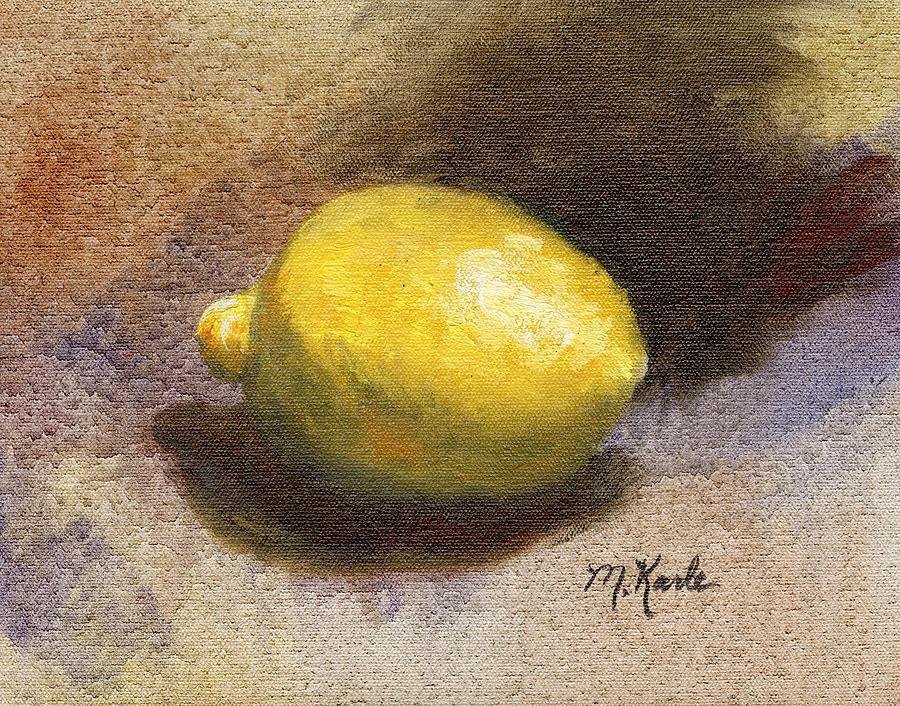 Lemon Still Life by Marsha Karle