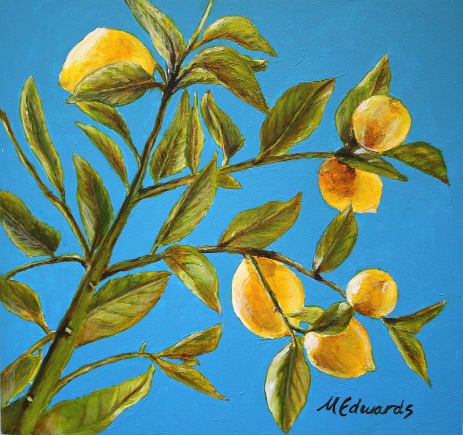 lemons painting lemon tree by marna edwards flavell