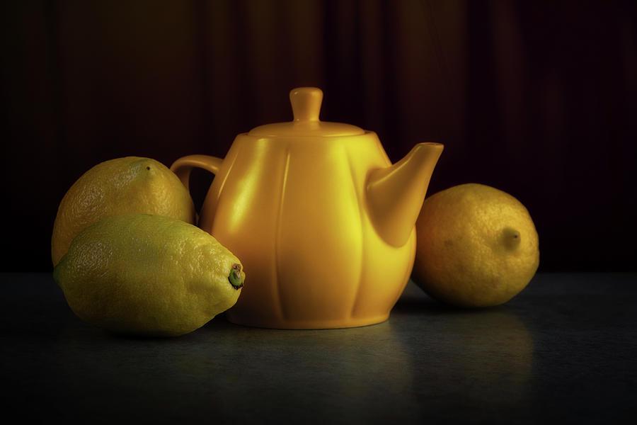 Citrus Photograph - Lemon Yellow by Tom Mc Nemar