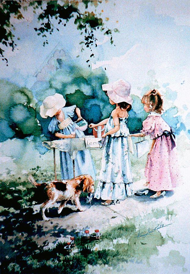 Lemonade Stand Painting - Lemonade Ladies by Hanne Lore Koehler