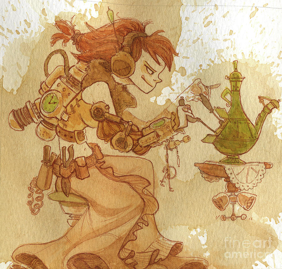 Steampunk Painting - Lemongrass by Brian Kesinger