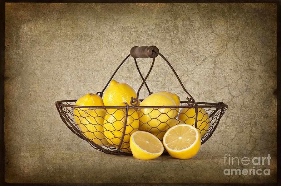 Lemons Photograph - Lemons by Heather Swan