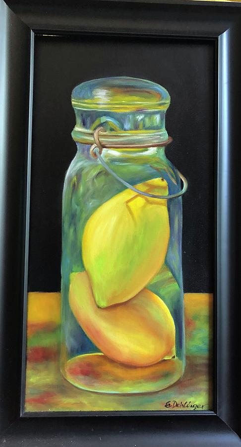 Lemons in Jar.  SOLD by Susan Dehlinger