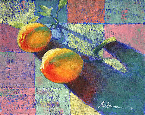Fruit Painting - Lemons by Michael Lynn Adams