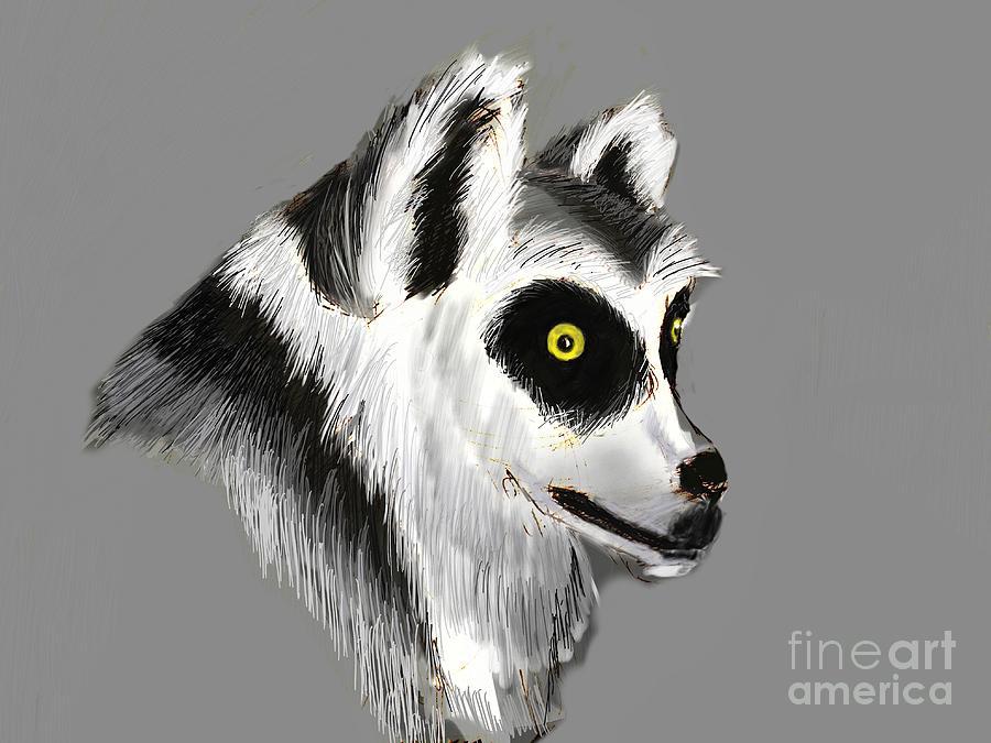 Lemur Digital Art - Lemur by Alfredo Lozano