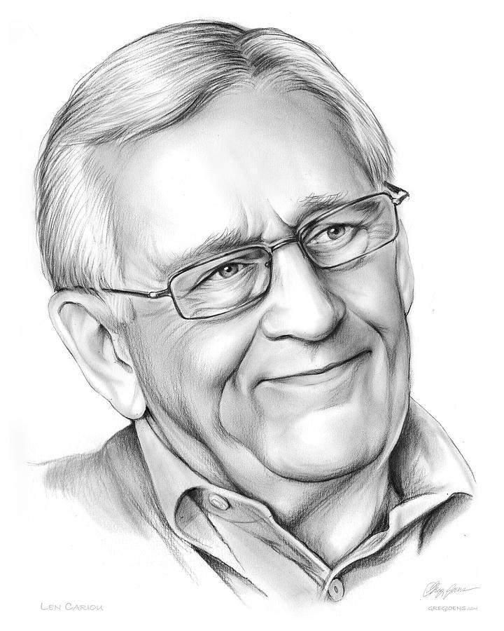 Canadian Drawing - Len Cariou by Greg Joens